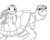 nemo coloring pages bloat scared bloat scared crush and squirt - Crush Finding Nemo Coloring Pages