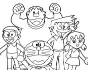 Doremon Coloring Pages Cartoon Coloring Pages