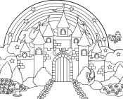 Similiar Coloring Pages Princess Castle Fairies Dream
