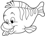coloring pages flounder - photo#26